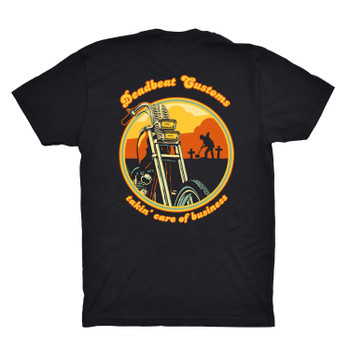 Deadbeat Customs Takin' Care Of Business T-Shirt - Black