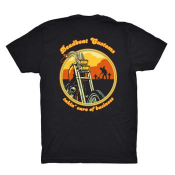 Deadbeat Customs Takin' Care Of Business T-Shirt - Black