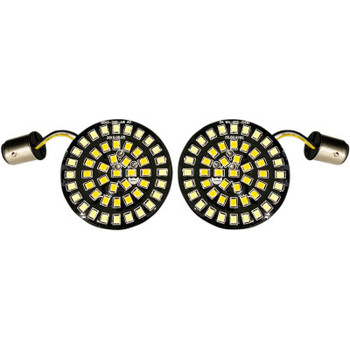 Drag Specialties - Front Dual Ring Turn Signal Inserts, Bullet-style