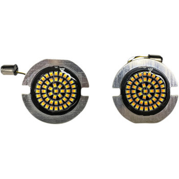 Custom Dynamics - Genesis Solid Amber/White Turn Signals fits US Models with Front 1157 Dual Contact Bases