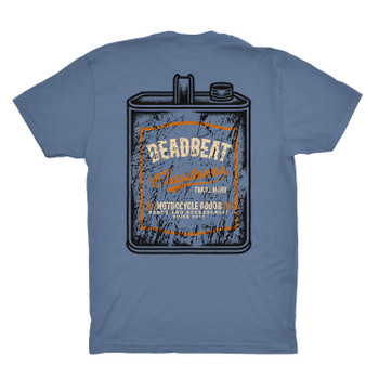 Deadbeat Customs Oil Can T-Shirt - Indigo