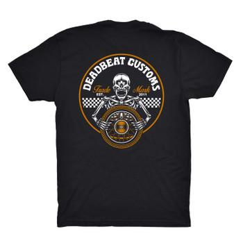 Deadbeat Customs Skeleton Wheel T-Shirt