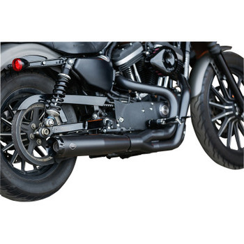 S&S Cycle - Superstreet 2-Into-1 Exhaust Systems fits'07-'13 Sportster Models - Black
