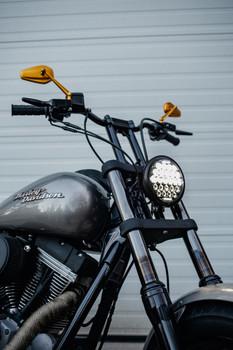 "Motorcycle Supply Co. - Black 5.75"" Night Stalker LED Headlight"