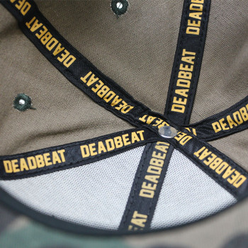 Deadbeat Customs Hunter Orange/Camo Snapback