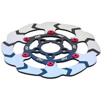 "Flo Motorsports - 11.5"" Floating Rotor - Red - fits Dyna/FXR"