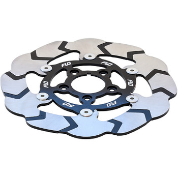 "Flo Motorsports - 11.5"" Front Center Hub Floating Rotor - Silver"