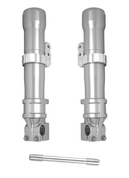 Alloy Art - 49MM Lower Fork Leg Kits fits '14-'20 Touring Models W/ ABS (Clear Anodized)