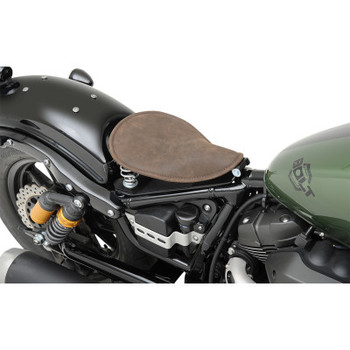 Drag Specialties - Small Low Profile Spring Solo Seats (Distressed Brown Leather)