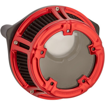 Arlen Ness - Method Clear Series Air Cleaner Kits fits '18-'16 Touring and Softail Models (Red Anodized)