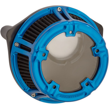 Arlen Ness - Method Clear Series Air Cleaner Kits fits '00-'17 Twin Cam Models (Blue Anodized)