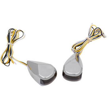 Alloy Art - LED Driving/Signal Lights fits '99-'20 Touring Models (Chrome Smoke/ White Lens)
