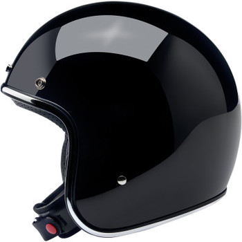 Biltwell - Bonanza Helmet - Gloss Black  (Side)