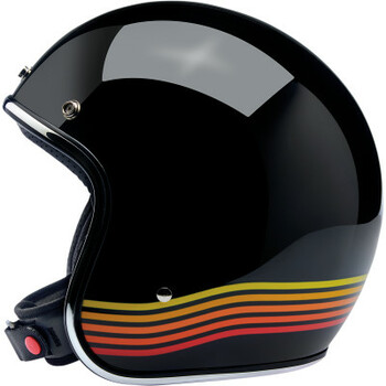 Biltwell - Bonanza Helmet - Gloss Black Spectrum (Side)