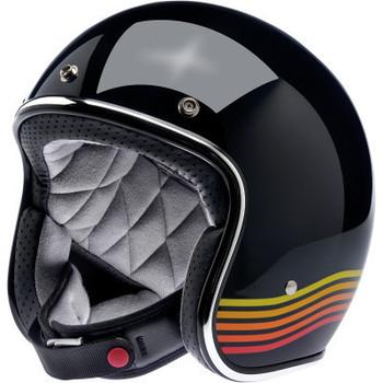 Biltwell - Bonanza Helmet - Gloss Black Spectrum (Front)