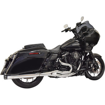 Bassani - Road Rage 2-Into-1 Exhaust fits M8 Softail Models (Chrome)