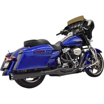 Bassani - Road Rage 2-Into-1 Exhaust fits M8 Softail Models (Black)
