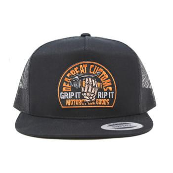 Deadbeat Customs - Grip N' Rip Snapback Hat (Black)