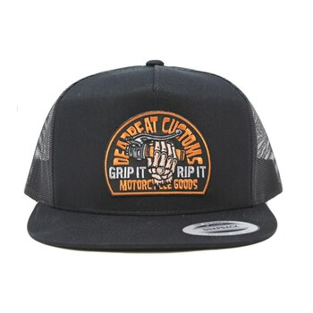 Deadbeat Customs - Grip N' Rip Snapback Hat (Black)