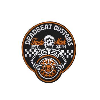 """Deadbeat Customs - Skeleton Wheel Patch 2"""" Diameter"""