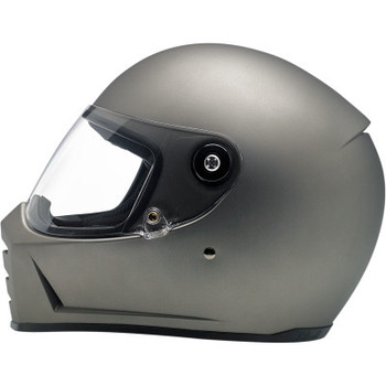 Biltwell Lane Splitter Full Face DOT & ECE Helmet - Flat Titanium