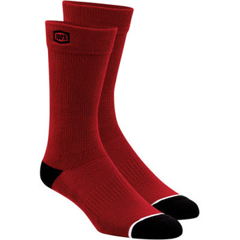 100% - Men's Casual Socks - Solid Red (LG/XL)