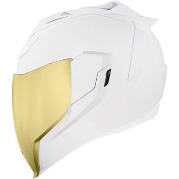 Icon - Airflite Peacekeeper Rubatone Helmet - White (Left Side)