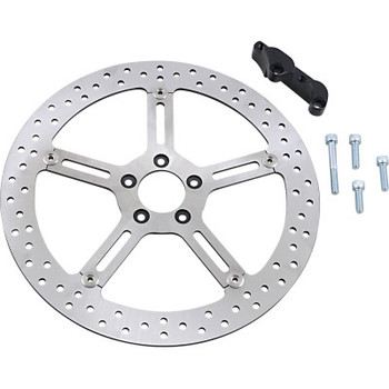 "Arlen Ness - Big Brake Floating Rotor Kit 15"" fits '00-'17 Softail (Except Springer) and '00-'05 Dyna Models (Left)"