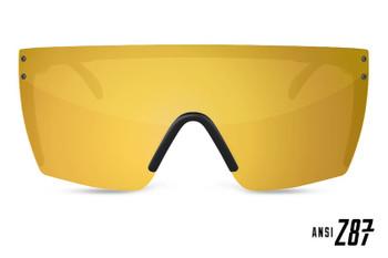 HeatWave Visual - Lazer Face Sunglasses Kit - Gold Rush (Front View)