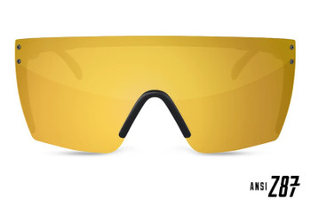 HeatWave Visual - Lazer Face Sunglasses Kit - Gold Rush (Front View)