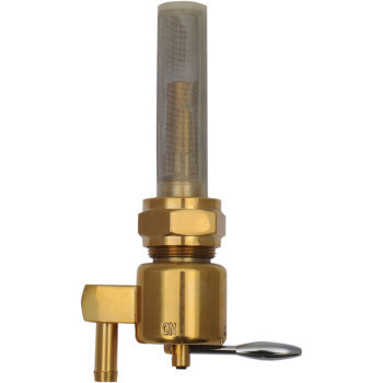 Drag Specialties - 22MM Down-Facing Outlet Fuel Petcock - Bronze