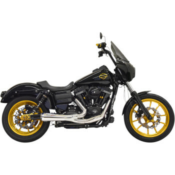 Bassani - The Ripper Road Rage 2-into-1 Exhuast System fits '06-'17 Dyna Models (Chrome)