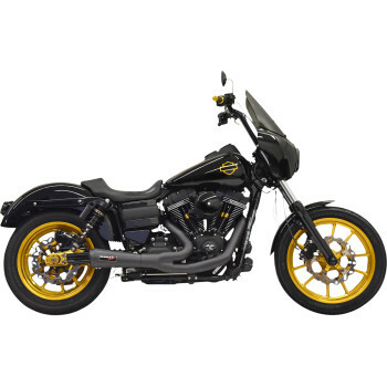 Bassani - The Ripper Road Rage 2-into-1 Exhuast System fits '06-'17 Dyna Models (Black)