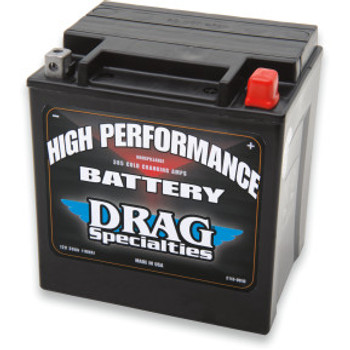 Drag Specialties - High Performance AGM Battery - OEM# 66010-97A/C fits '97-'20 Touring Models