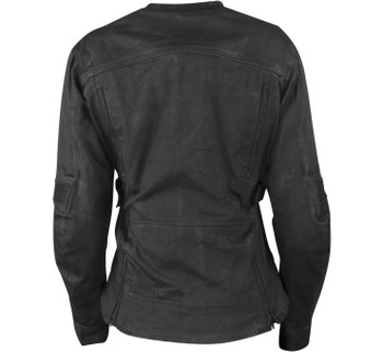 Speed and Strength - Women's Fast Times 2.0 Textile Jacket (Black,Back)