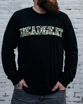 Deadbeat Customs Drop Out Longsleeve Shirt - Black