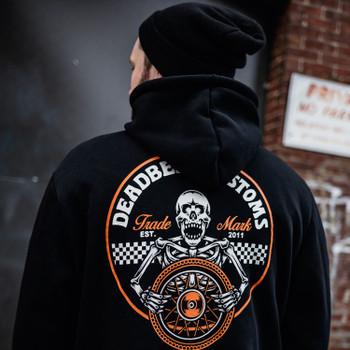 Deadbeat Customs - Skeleton Wheel Zip-Up Sweatshirt