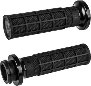 ODI - Lock-On Grips fits '18 & Up Indian Touring Models (Black/Black)