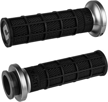 ODI - Lock-On Grips fits '18 & Up Indian Touring Models (Black/Graphite)