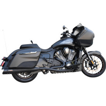 Bassani - True Dual Exhuast System Black fits Indian Challenger Models