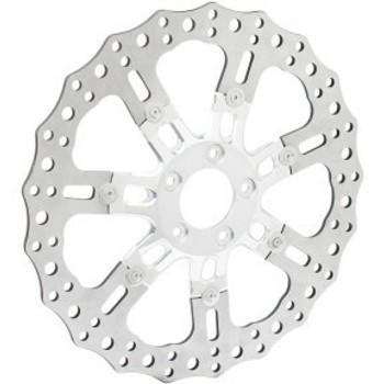 "Arlen Ness - Two-Piece Floating 14"" Front Brake Rotor - 7 Valve Chrome"