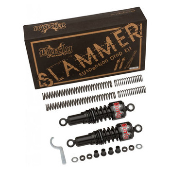 Burly Brand - Black Slammer Suspension Lowering Kit - fits '04-'16 Sportster