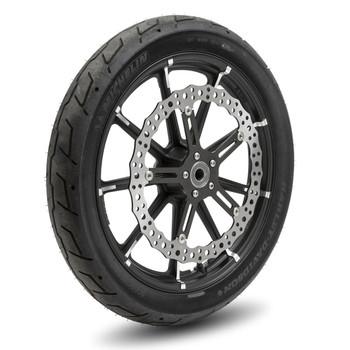 "Arlen Ness - Harley Softail/Dyna 15"" Center Hub Big Brake Jagged Floating Rotor Kit"