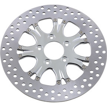 "Performance Machine - 11.5"" Front Center Hub Two-Piece Brake Rotors - Paramount Chrome"