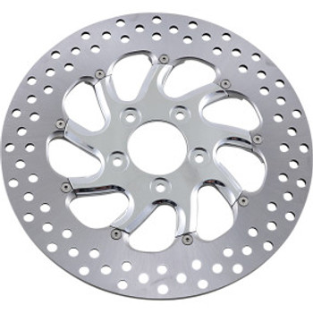 "Performance Machine - 11.5"" Front Center Hub Two-Piece Brake Rotors - Torque Chrome"