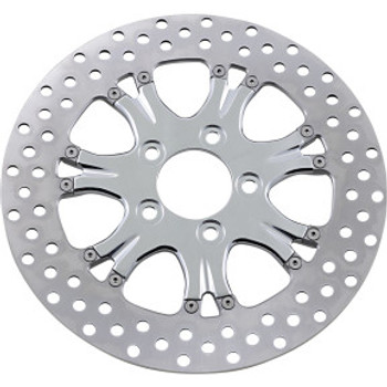 "Performance Machine - 11.5"" Rear Center Hub Two-Piece Brake Rotors - Paramount Chrome"