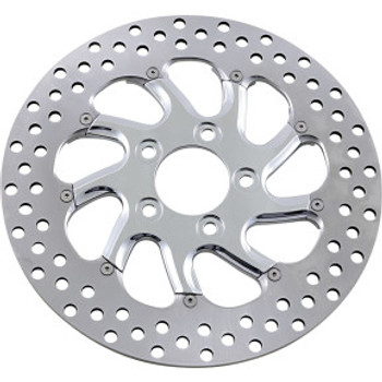 "Performance Machine - 11.5"" Rear Center Hub Two-Piece Brake Rotors - Torque Chrome"