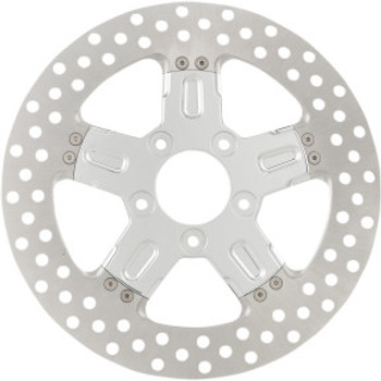 "Performance Machine - 11.8"" Front Center Hub Two-Piece Brake Rotors - Formula Chrome"