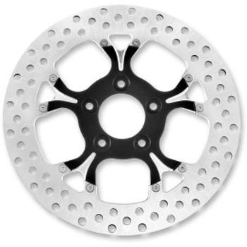 "Performance Machine - 11.8"" Front Center Hub Two-Piece Brake Rotors - Galaxy Platinum Cut"