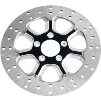 "Roland Sands Design - 11.5"" Rear Center Hub Mount Two-Piece Brake Rotors - Diesel Contrast Cut™"